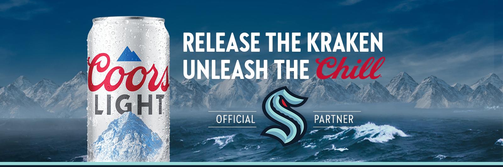 Coors Light Kraken Silver Seats 2021 Sweeps